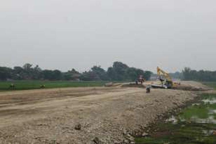 Progress pembangunan Tol Solo-Kertosono pada 17 Desember 2015.