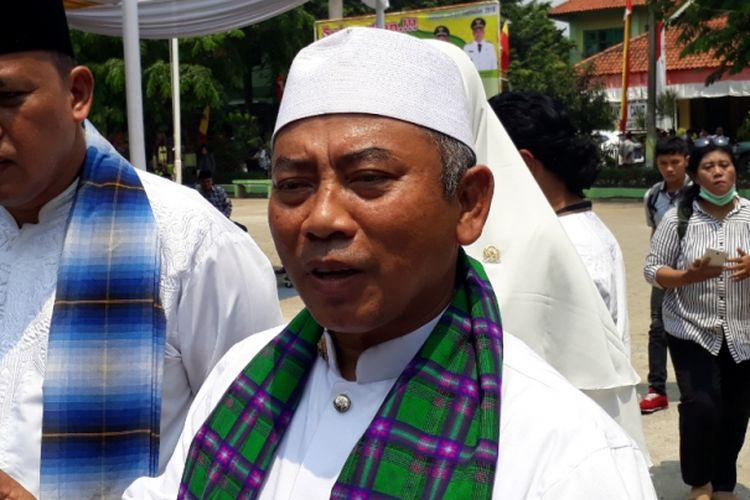 Wali Kota Bekasi Rahmat Effendi di Lapangan Kecamatan Jatiasih, Kota Bekasi, Selasa (25/9/2018).