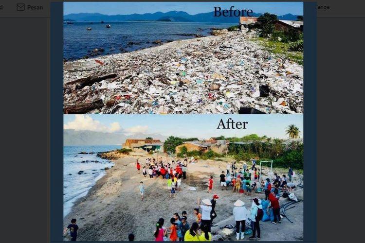 Salah satu hasil tantangan Trash Challange di media sosial yang dilakukan oleh masyarakat.