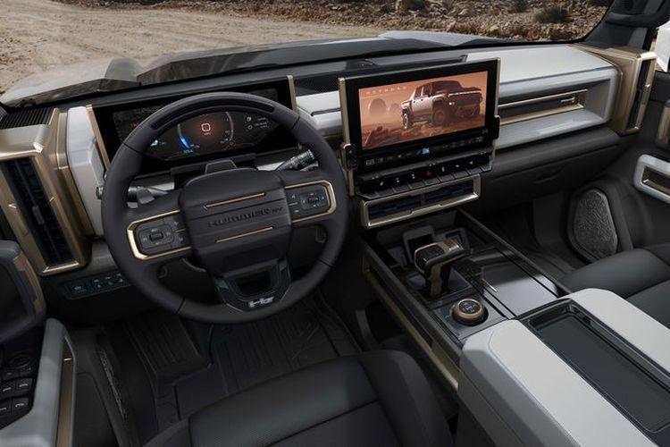 Tampilan interior GMC Hummer EV