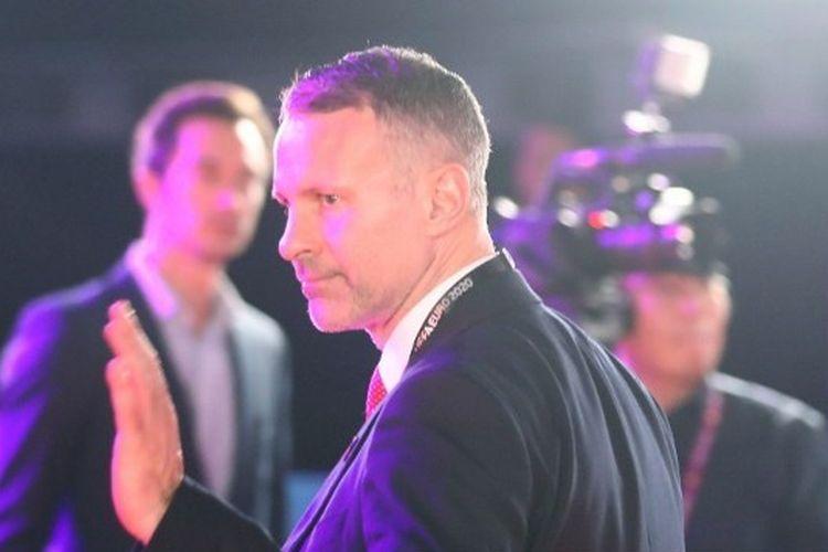 Ryan Giggs, Kepala Pelatih Wales tiba di venue sebelum Upacara Pengundian Final UEFA Euro 2020