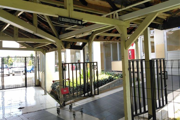 Tampak Ruang Isolasi Bougenvile RS Rotinsulu yang kini masih merawat satu terduga covid 19.