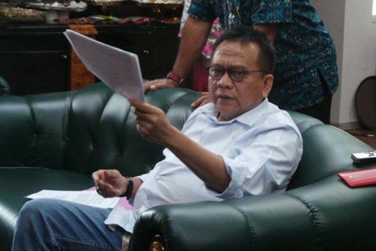 Wakil Ketua DPRD DKI Jakarta sekaligus Ketua DPD Gerindra DKI Jakarta Mohamad Taufik, saat ditemui di Gedung DPRD DKI Jakarta, Jumat (21/10/2016).
