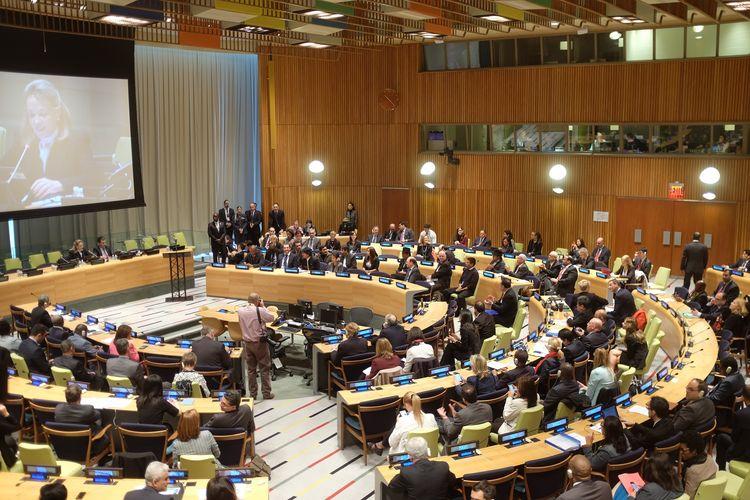 Ilustrasi Sidang Umum PBB di New York, Amerika Serikat (AS).