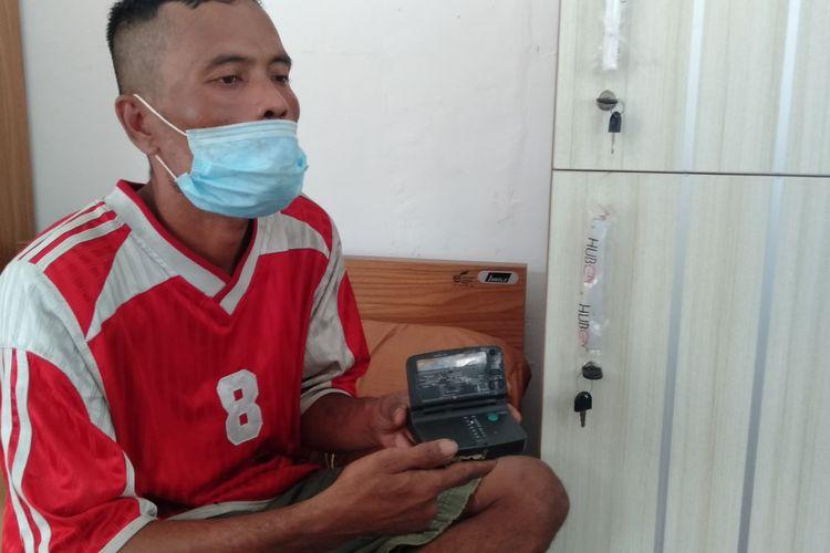 Fasial Tanjung (43) saat ditemui di Balai Rehabilitasi Sosial Eks Gelandang dan Pengemis (BRSEGP) Pangudi Luhur Bekasi, Kamis (7/1/2021).