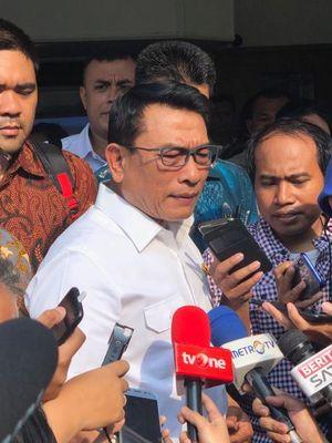Kepala Staf Kepresidenan (KSP), Moeldoko, saat ditemui di Gedung DPP PA GMNI, Jakarta Pusat, Senin (22/7/2019).