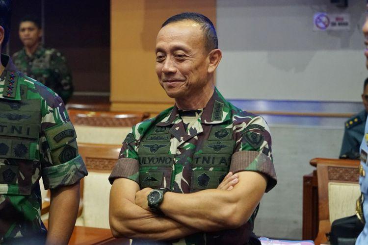 Kepala Staf TNI AD (Kasad) Jenderal Mulyono di Kompleks Parlemen, Senayan, Jakarta, Kamis (24/5/2018).