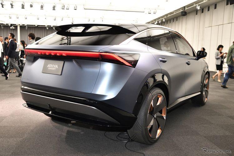 Tampak bagian belakang Nissan Ariya versi konsep