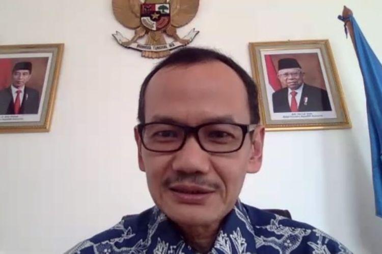 Dirjen Dikti Kemendikbud Prof. Nizam saat menjadi narasumber pada talkshow gelaran ForTi.