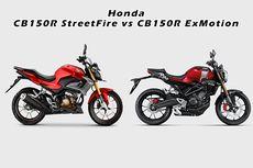 Lebih Keren Mana, CB150R StreetFire atau CB150R ExMotion?