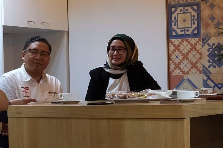 Direktur Utama Telkomsel Emma Sri Martini di Menara Kompas, Jakarta, Jumat (25/10/2019).