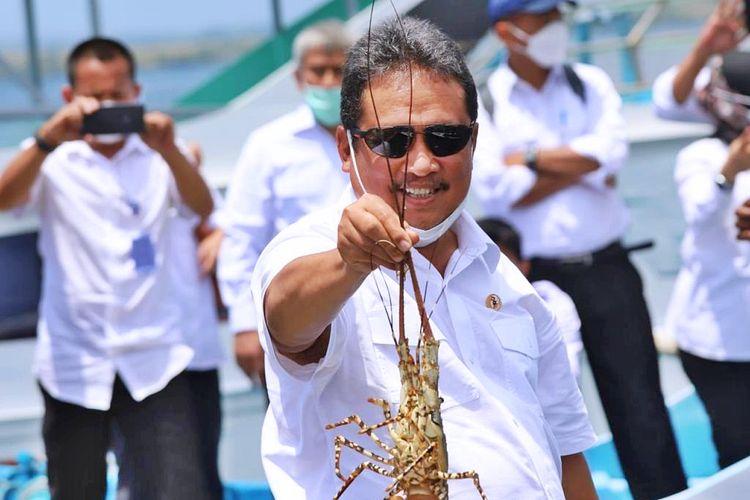 Menteri Kelautan dan Perikanan (Menteri KP) Sakti Wahyu Trenggono mengeluarkan Peraturan Menteri (Permen) KP Nomor 17 Tahun 2021 tentang pengelolaan lobster.