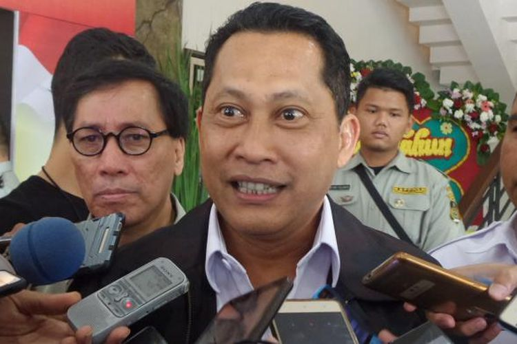 Kepala Badan Narkotika Nasional (BNN) Budi Waseso di kompleks Mabes Polri, Jakarta, Rabu (1/3/2017).