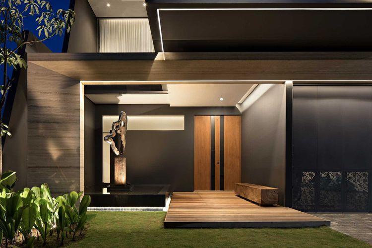 Desain Eksterior Rumah Mewah 1 Lantai  simpel dan memikat rumah minimalis kontemporer rakta studio