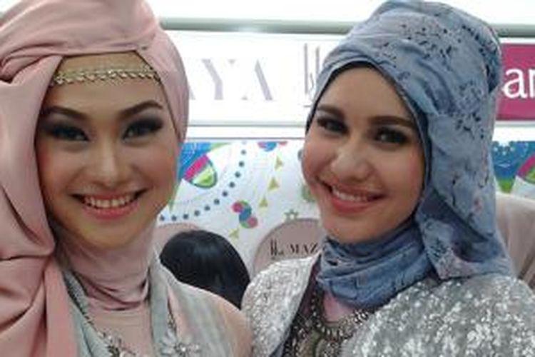 Brand Ambassador Mazaya, Indah Nada Puspita dan Sidah mufidah.