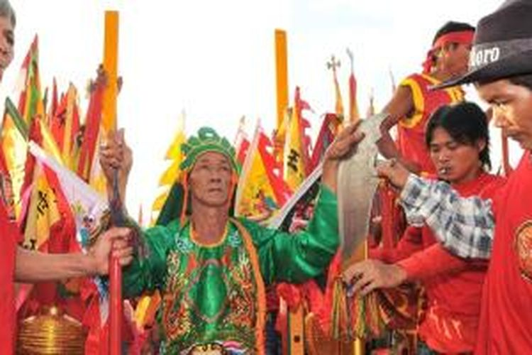 Perayaan Cap Go Meh di Singkawang, Kalimantan Barat tahun 2012.