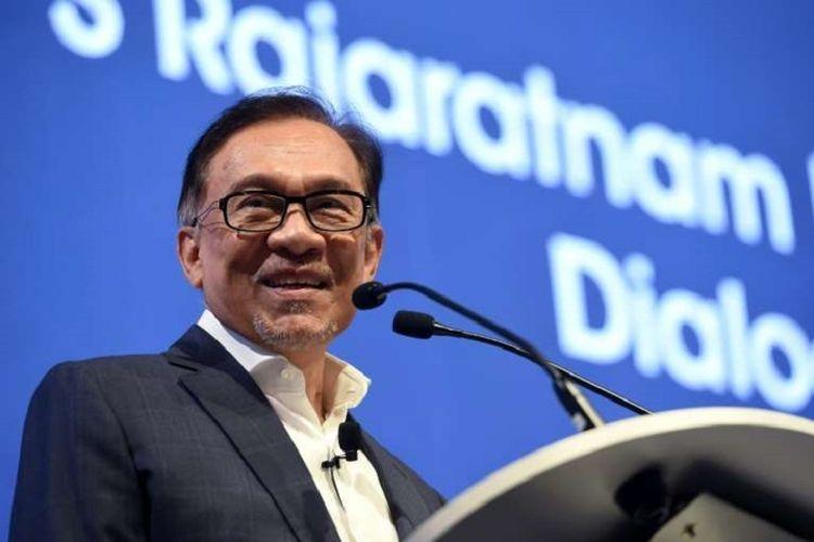 Presiden Partai Keadilan Rakyat (PKR) Anwar Ibrahim