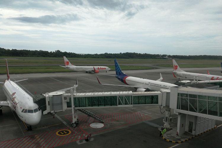 Ilustrasi: Sejumlah maskapai nasional terparkir di Bandara Sultan Aji Muhammad Sulaiman, Balikpapan Kalimantan Timur
