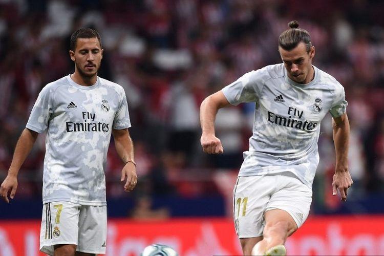 Pemain Real Madrid, Eden Hazard dan Gareth Bale