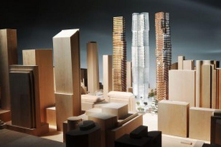Frank Gehry mempublikasikan desain arsitektur baru Galeri Seni dan Kompleks Universitas di Toronto, Kanada.