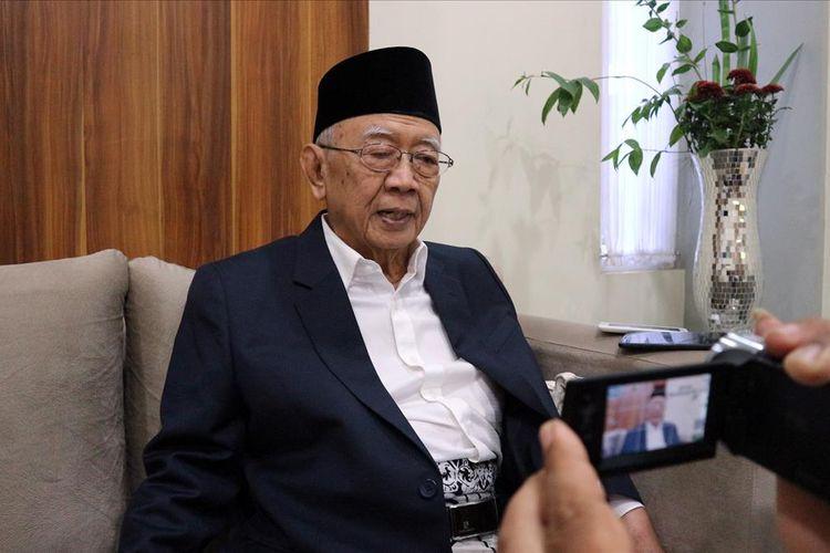 KH. Salahuddin Wahid, saat ditemui di kediamannya di kawasan Pesantren Tebuireng Jombang Jawa Timur, Jum'at (28/6/2019).
