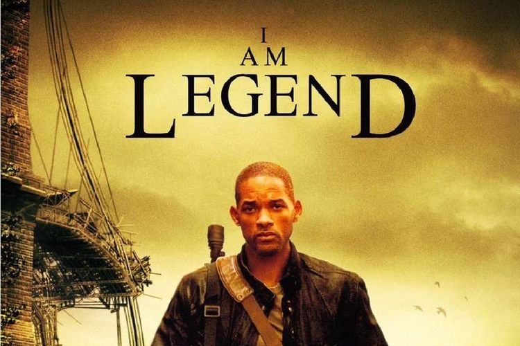 Will Smith dalam poster film I Am Legend
