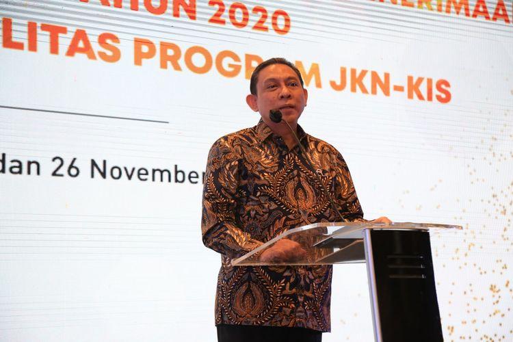Direktur Keuangan dan Investasi Badan Penyelanggara Jaminan Sosial (BPJS Kesehatan) Kemal Imam Santoso dalam acara Payment Channel Award BPJS Kesehatan tahun 2020, Rabu (25/11/2020).