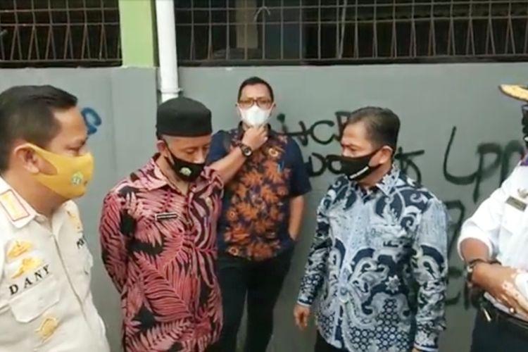 Wakil Wali Kota Serang Subadri Usuludin saat memarahi dua kepala OPD