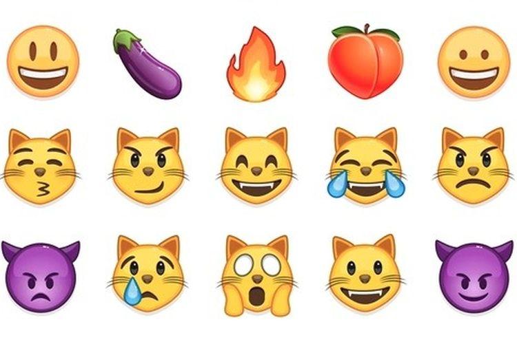 Kumpulan emoji di aplikasi pesan instan Telegram