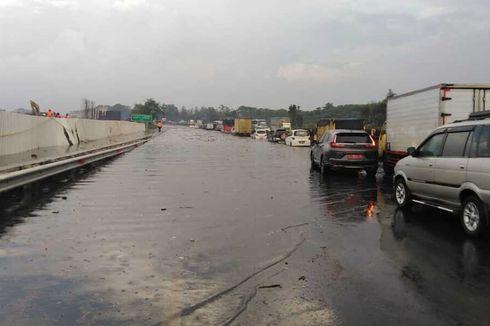 Tol Padaleunyi KM 130 Tergenang Setinggi Paha, Jasa Marga: Imbas Proyek Kereta Cepat