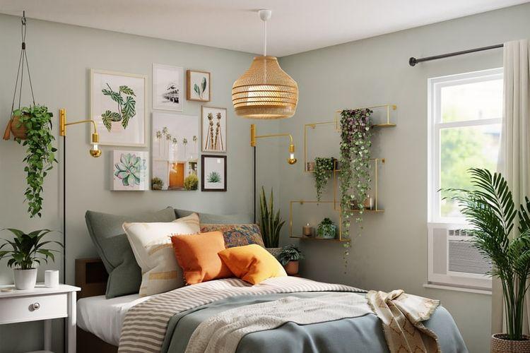 Ilustrasi tanaman di kamar tidur