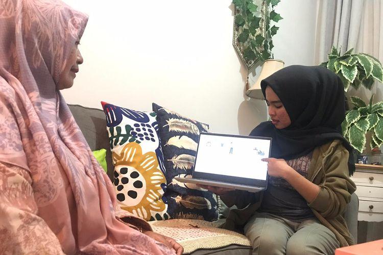 Aurellia Novanda Rahmadanty, mahasiswi Program Studi Okupasi Terapi 2019, Program Pendidikan Vokasi Universitas Indonesia (UI) menjadi satu di antara 15ribu mahasiswa Relawan Kemanusiaan Melawan Covid-19 yang diinisiasi Kemendikbud.