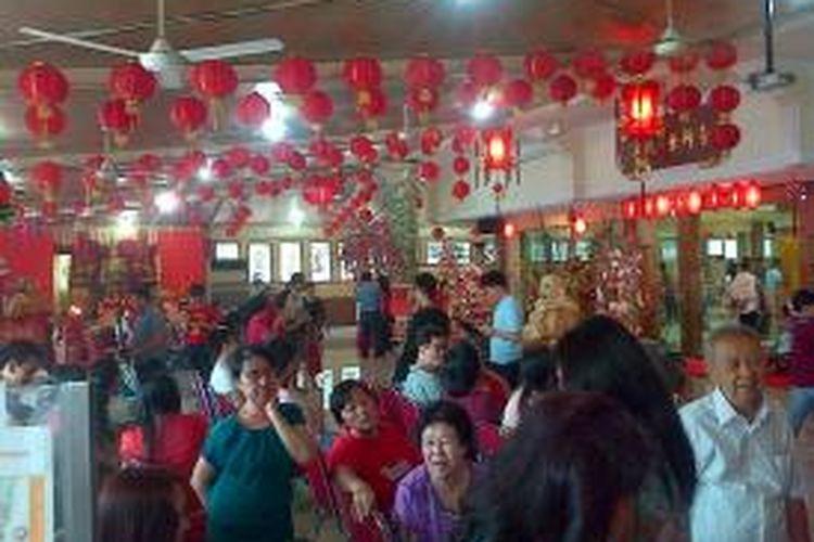 Suasana Aula Vihara Ekayana, Jakarta Barat, Pasca Kebaktian Doa Bersama Merayakan Tahun Baru China