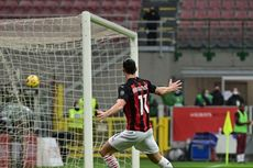 Babak I AC Milan Vs Crotone, Sepakan Keras Ibrahimovic Bawa Unggul
