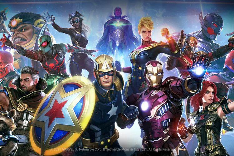 Deretan karakter superhero dan villain di Marvel Future Revolution.