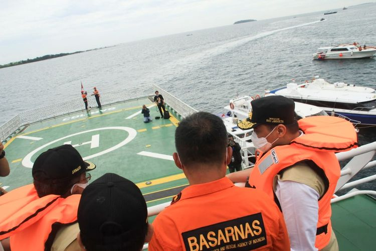 Indonesian authorities during the search for Sriwijaya Air Flight SJ182 that crashed into the sea shortly after take-off from Jakarta on Saturday, January 9.
