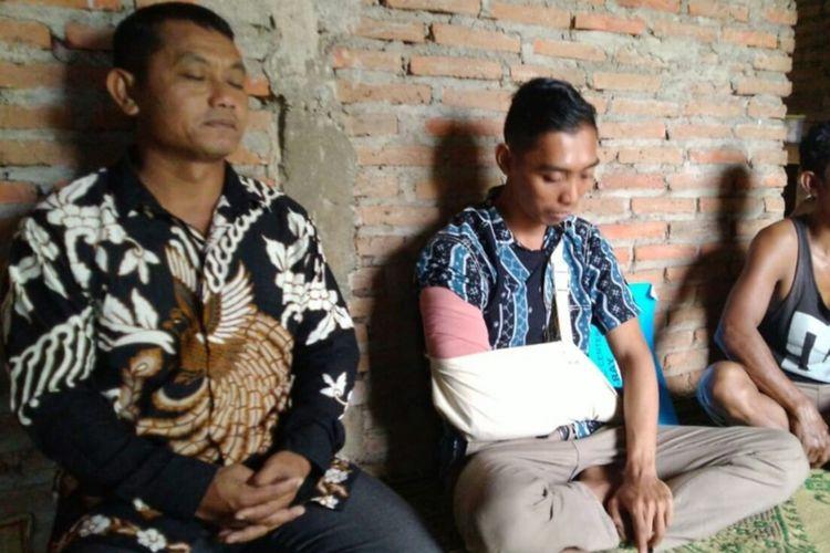Pendiyanto (Tangan digendong) Korban Klitih Warga Kecamatan Saptosari, Gunungkidul