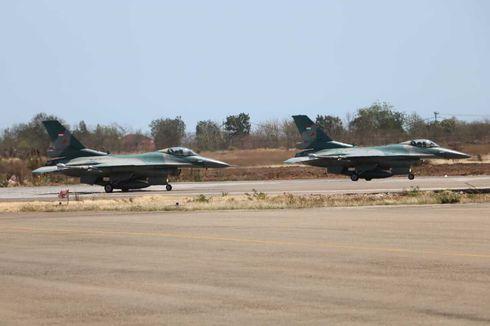 2 Jet Tempur F-16 Patroli di Perbatasan Timor Leste dan Australia, Amankan Wilayah Udara