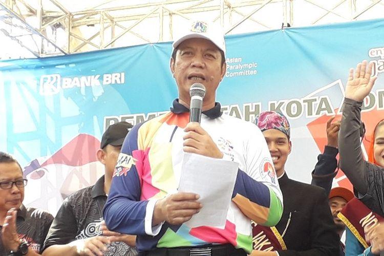 Wali Kota Jakarta Barat Rustam Effendi di Kampung Tomang, Grogol Petamburan, Jakarta Barat pada Selasa (2/10/2018).