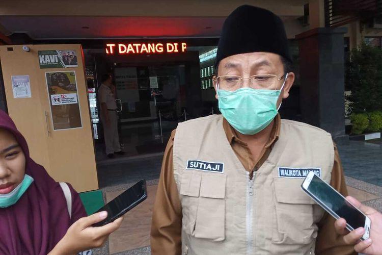 Wali Kota Malang, Sutiaji usai Rakor bersama Gubernur Jawa Timur melalui video conference di Mapolresta Malang Kota, Selasa (19/5/2020).