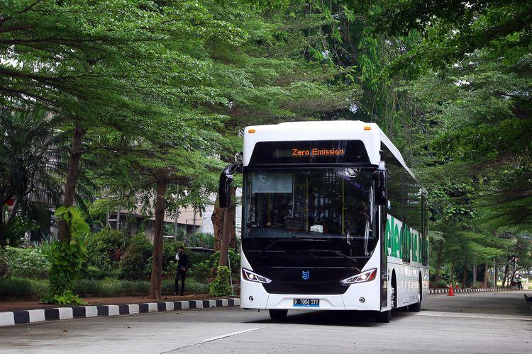 Produsen pulp dan kertas Grup APRIL menggandeng PT Mobil Anak Bangsa (MAB) dalam pengadaan dua bus listrik rendah emisi.