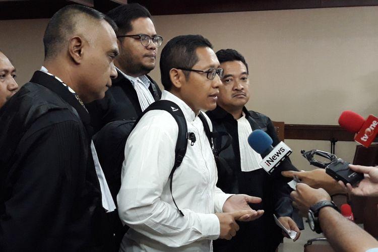 Anas Urbaningrum mengajukan peninjauan kembali di Pengadilan Tipikor Jakarta, Kamis (24/5/2018).