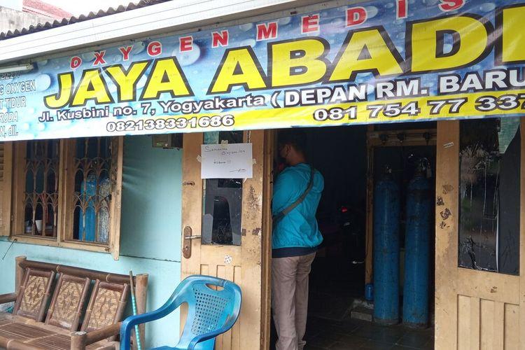 beberapa agen oksigen di Kota Yogyakarta alami kekosongan, Rabu (23/6/2021)