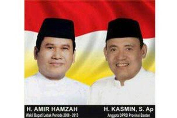 Salah satu pasangan Calon Bupati dan Wakil Bupati Lebak, Banten, Amir Hamzah dan Kasmin.