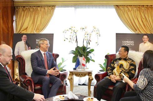Bertemu Duta Besar UE, Ketua MPR Bahas Penjegalan Ekspor Sawit RI