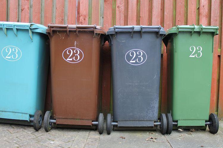 Ilustrasi tempat sampah.