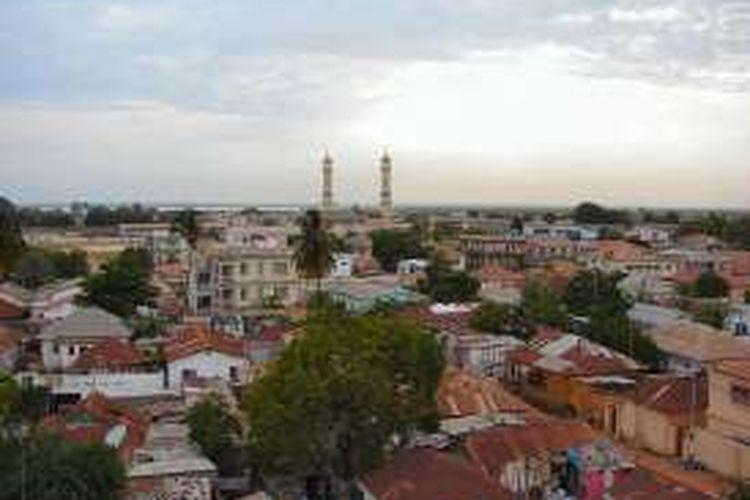 Pemandangan salah satu sudut ibu kota Gambia, Banjul.