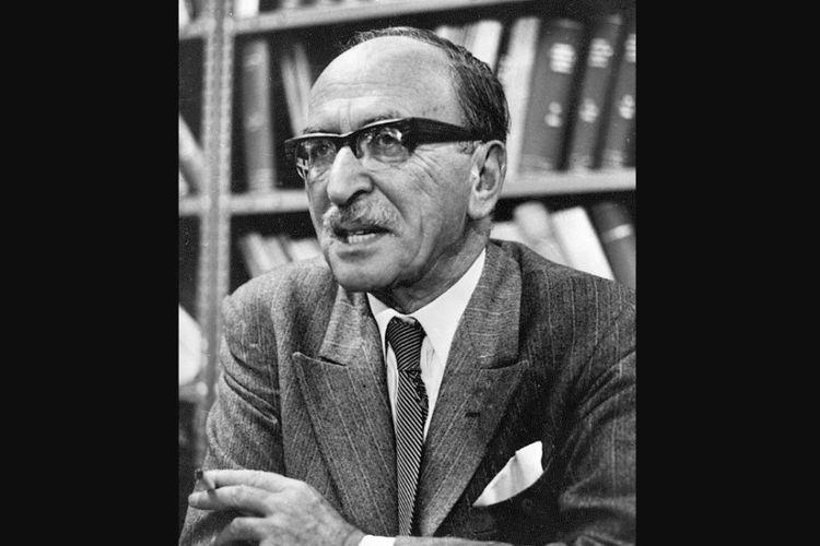 Dennis Gabor pada 1971 saat menerima Penghargaan Nobel di bidang Fisika.