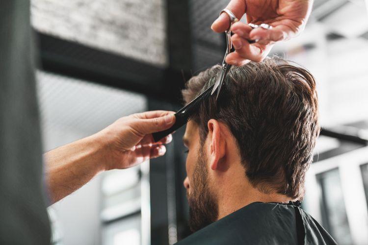 Ilustrasi potong rambut