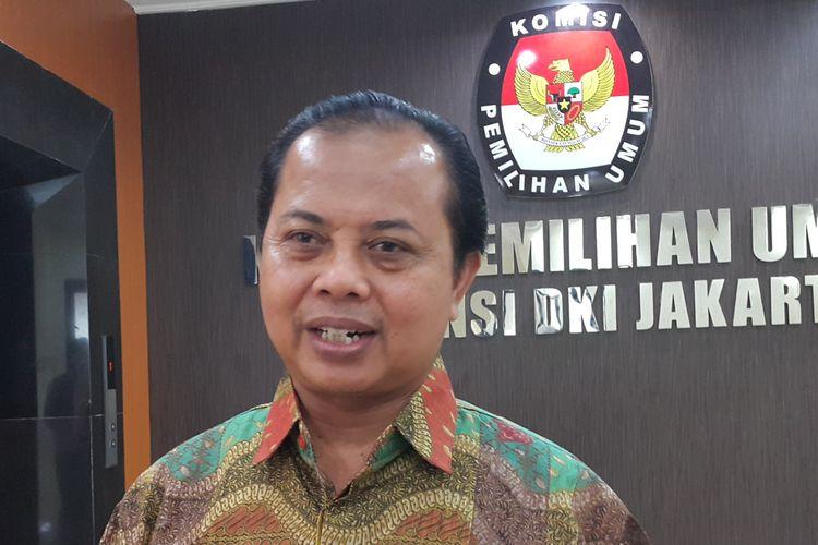 Ketua KPU DKI Jakarta di Kantor KPU DKI, Jalan Salemba Raya, Jakarta Pusat, Jumat (3/3/2017).